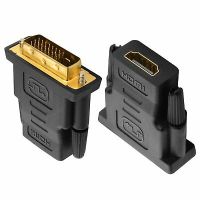 DVI D Male Dual Link Plug to HDMI Female Converter Adapter Socket For HD TV HDTV