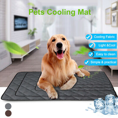 Pet Dog Cat Cool Mat Self Cooling Pad Bed Mattress Heat Relief Non-Toxic Blanket