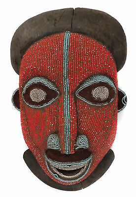 Bamun Bamileke Beaded Mask Cameroon Grasslands African Art