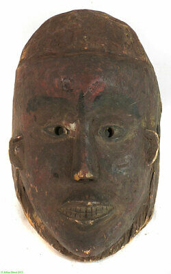Igbo Mask Cross River Red Paint African Art SALE WAS $350.00