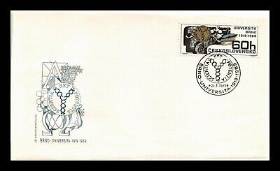Dr Jim Stamps University Of Brno First Day Issue Czechoslovakia Cover