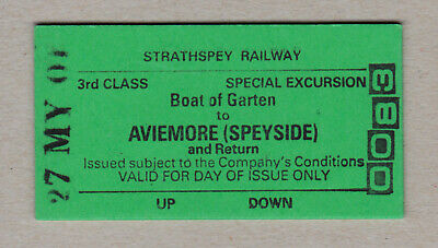 Strathspey Railway Ticket Scotland / Fahrkarte (418)