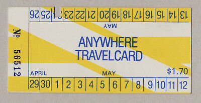 Melbourne Australia The Met Travelcard Paper Ticket / Fahrkarte (363)