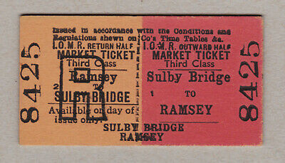 Isle Of Man Railway Ticket / Fahrkarte (408)
