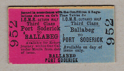 Isle Of Man Railway Ticket / Fahrkarte (409)