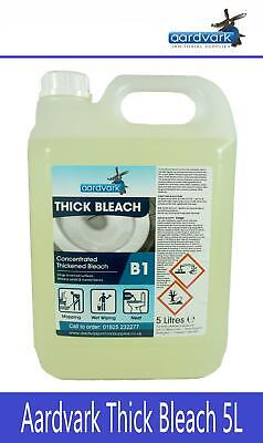 Aardvark Janitorial Supplies Thick Bleach PROFESSIONAL CLEANING INDUSTRIAL 5L