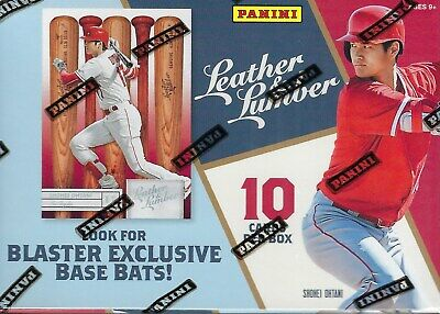 2019 Panini LEATHER & LUMBER Baseball Trading Cards 10c Retail BLASTER Box FS