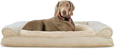 FurHaven Pet Dog Bed | Plush and Suede Pillow Sofa-Style Couch Pet Bed for Dogs
