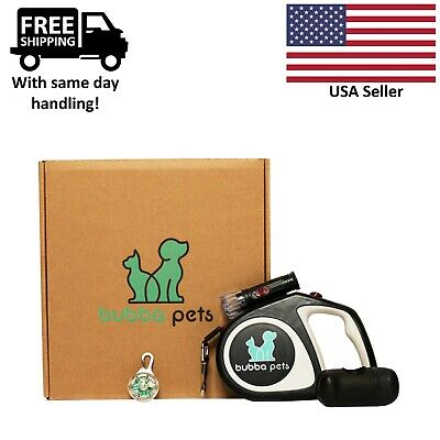 Retractable Dog Leash with Light 16Ft Waste Bag Dispenser Collar Light Bundle