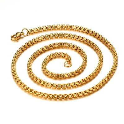 """Men's/Women's 316L Stainless Steel Curb Chain Necklace 3mm Link Jewelry 20""""/24"""""""