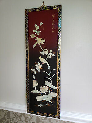 Old Chinese 3D Mother Of Pearl Large Framed Picture
