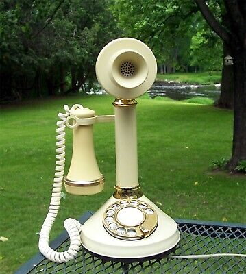 Vintage Deco-Tel Ivory Candlestick Phone  GE Company Property Labeled NFS