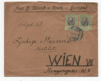 Serbia 18/6/1910 Interesting Cover From  Belgrade To Wien