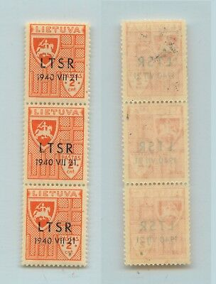 Lithuania 1940 SC 2N9 strip of 3 . rtb845