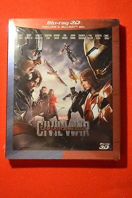New & Sealed 3D Captain America: Civil War 3D Blu-Ray with slipcover - EU import