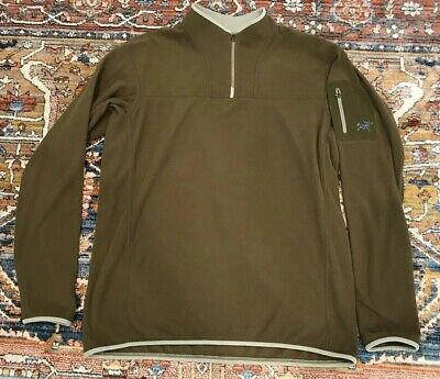 173f112d8c Arcteryx 1/4 Zip Pullover Polartec Fleece Sweater Olive Green Mens Sz Large