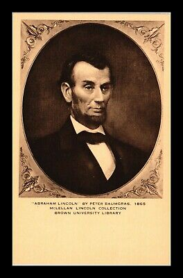 Dr Jim Stamps Us Portrait President Lincoln Brown University Collection Postcard