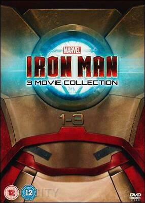Iron Man 1-3 [DVD] [BOX SET] Brand New & Sealed - Fast & FREE Post - Region 2 UK