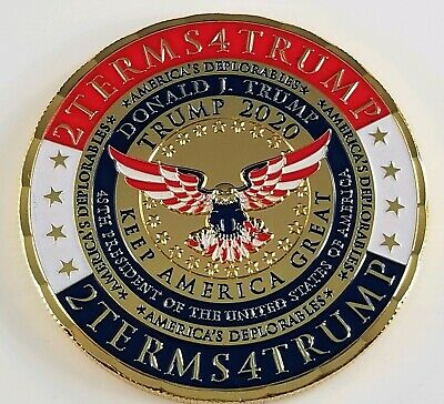 Donald Trump,Trump 2020, Keep America Great Commemorative Challenge Coin. Rare!