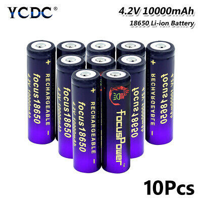 10X 18650 Battery Rechargeable 3.7V 10000Mah High Capacity For Flashlight Toy 9