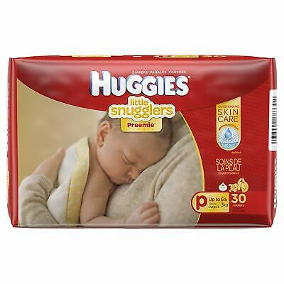 Huggies Premmie Baby Nappies Unisex up to 3kg 30 Pack Adjustable Gentle On Skin