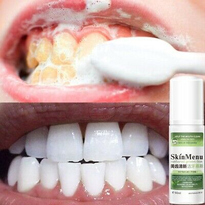 60ml Toothpaste Whitening Foam Natural Mouth Wash Water Teeth Whitening Hygienes
