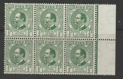 A Block Of 8 Stamps  From Ireland 1943.
