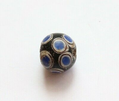 ANCIENT SCYTHIANS DECORATED GLASS BEAD 2th-3th century