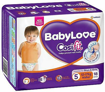 BabyLove Cosifit Walker Nappies 12-17kg Soft Comfy Stretchy Waistband 72 Counts