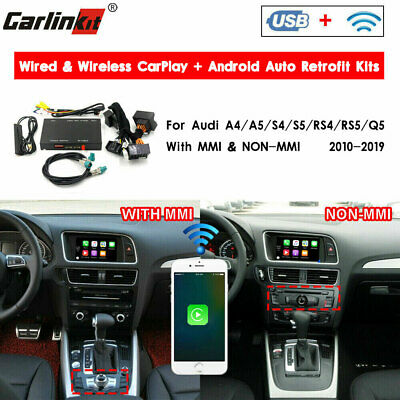 Carlinkit Fit For Audi A4 A5 S4 S5 Q5 Wireless CarPlay Android Auto Retrofit Kit