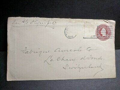 1926 Ship RMS OLYMPIC, White Star Line Naval Cover NY to Switzerland