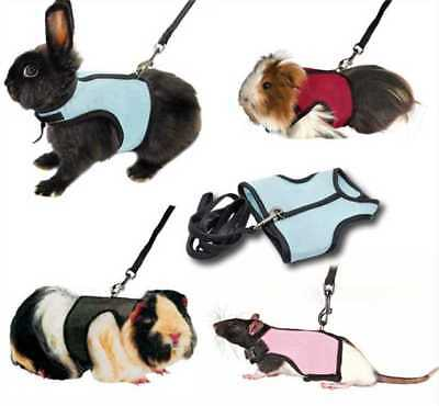 Harness Guinea Pig Forret Hamster Rabbit Squirrel Vest Lead Clothes Small Pets