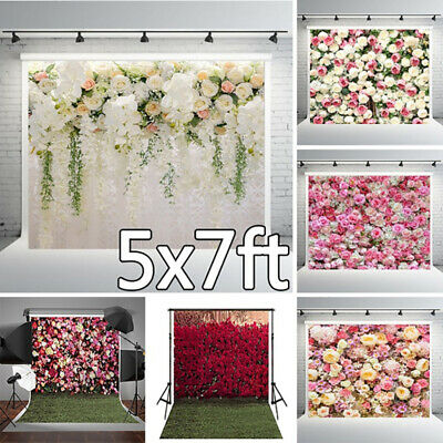 UK Flower Wall Floor Photography Backdrop Photo Studio Background Prop 5x7ft