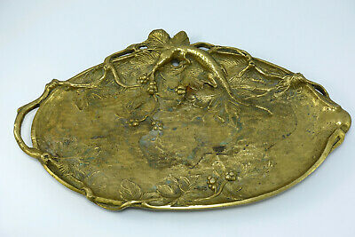 Messing-Tablett vide-poche Ablage-Schale Eidechse lizard brass tidy bowl tray