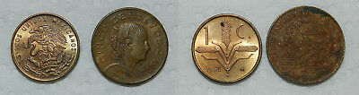 3 Old Coins - Mexico & Chile