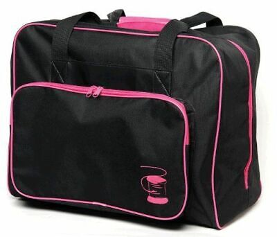 Sewing Machine Bag Sewing Machine Case Black With Fuchsia Piping 43 x 35 x 22cm