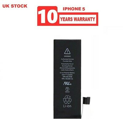 GENUINE REPLACEMENT 100% CAPACITY 1440mAh BATTERY FOR IPHONE 5, 5G 10YR WARRANTY