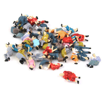 50x O scale All Seated People Sitting Figures Passengers Different Poses