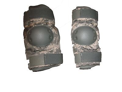 Military Surplus Bijans Acu Digi Cam Tactical Elbow Pads Med 8415-01-530-2157
