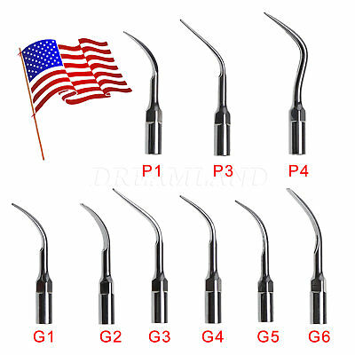 5 Dental Ultrasonic Scaler Scaling Perio Tip Fit EMS Woodpecker Handpiece PL