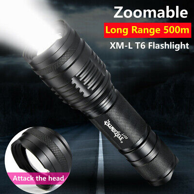 5000LM 18650 XML T6 LED Zoomable Rechargeable Clip Torch Light Lamp Flashlight