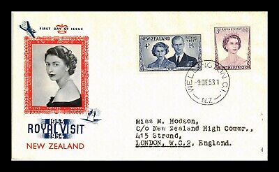 Dr Jim Stamps Royal Visit Queen Elizabeth First Day Issue New Zealand Cover