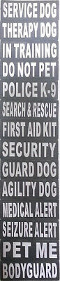 Service Patch For Dog Harness - Hook & Loop - Reflective Letters
