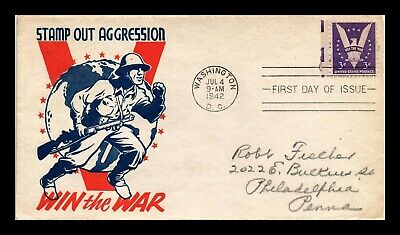 Dr Jim Stamps Us Patriotic Cachet Wwii Win The War First Day Cover Scott 905
