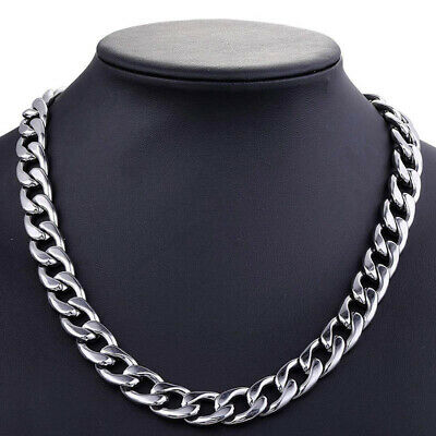 3-10mm Men's Boy Stainless Steel Punk Figaro Hexagon Curb Chain Necklace Jewelry