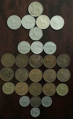 Collection of 28 Old Irish Coins 1 Half Crown, 13 Pennies, 4 Pounds + 10 Others