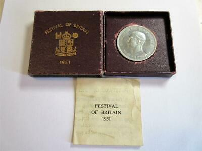 VINTAGE GEORGE VI 1951 'FESTIVAL OF BRITAIN' CROWN COIN - High Grade!