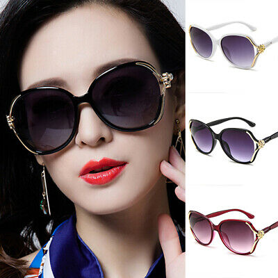 Women Oversized Sunglasses UV400 Huge Shades Outdoor Vintage Round Eyew ba