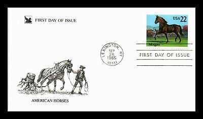 Dr Jim Stamps Us American Horses Morgan Hors First Day Cover Lexington