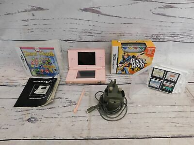 NINTENDO DS Lite Pink Console Bundle With 6 Games, Charger & Pen - S46